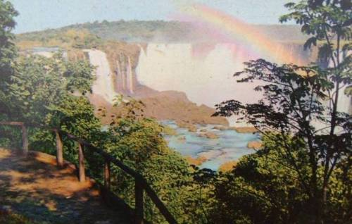 Cataratas do Iguaçu nos anos 60.