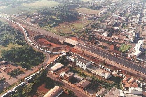Construção do viaduto na JK.