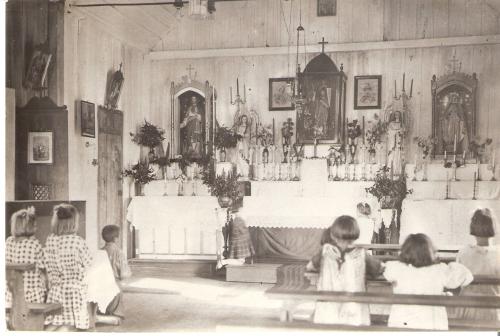 Igreja Matriz São João Batista quando era de madeira. Sempre foi linda.