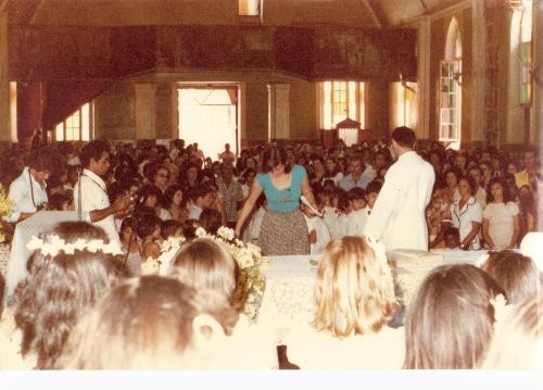 Registro da época em que o coral da Igreja Matriz S.J.B. ficava no mezanino...( lá na entrada principal).