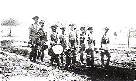 Em 1930 a banda da Companhia Independente da Fronteira.