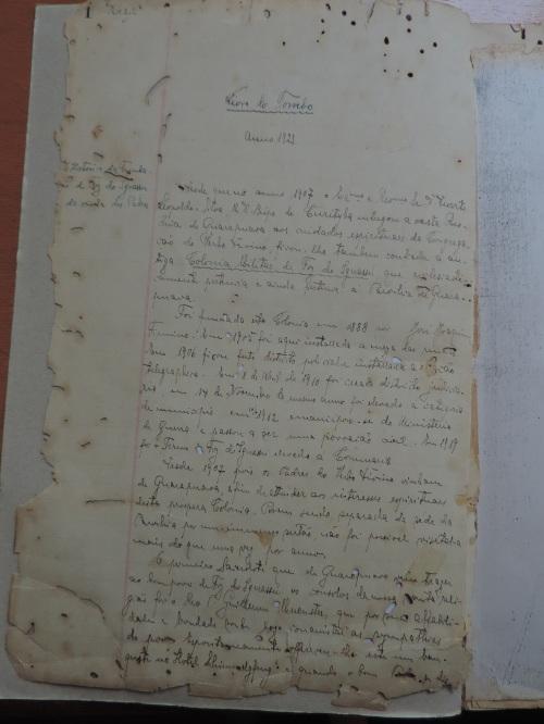 1° Igreja de Foz do Iguaçu, em 1923, já vinha registrando histórias da cidade...
