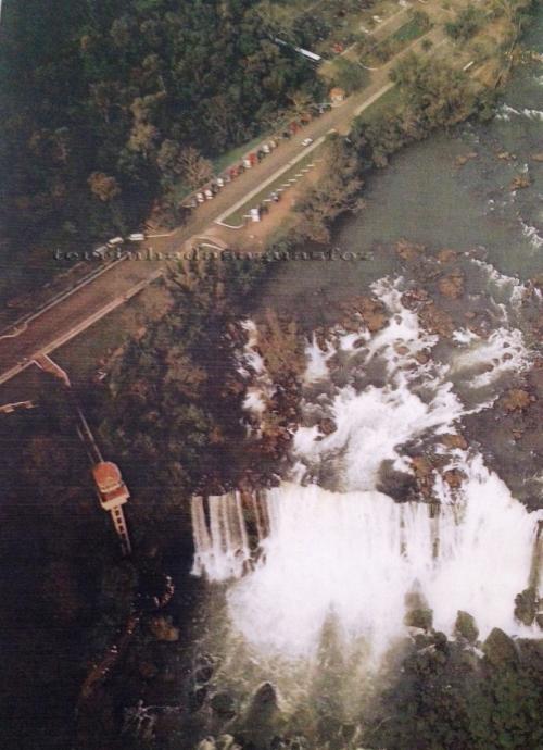 Cataratas do Iguaçu nos anos 80.
