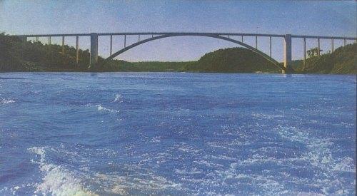 Ponte Internacional da Amizade anos 70.