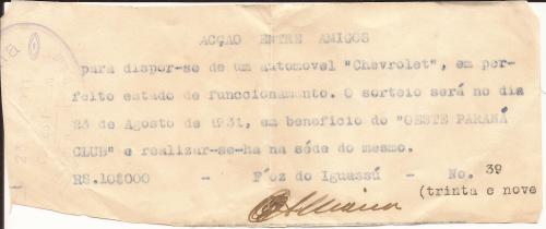 Que bonita era a união dos associados do Oeste Paraná Clube!!
